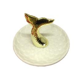 Διακοσμητικό Πιατάκι με 3D Σχέδιο Ουρά Γοργόνας για τα Κοσμήματα