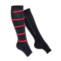 Κάλτσες Συμπίεσης Walk Genie - Χρώμα Μαύρο