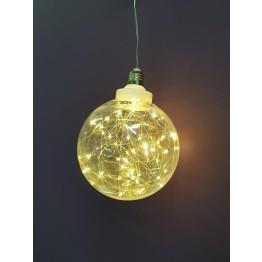 Χριστουγεννιατικη Ακρυλική Μπάλα Large με Led