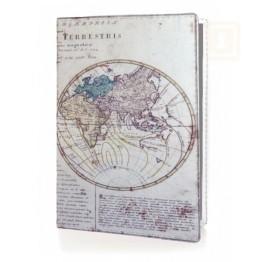 Θήκη Διαβατηρίου και Καρτών RIFD Προστασία - Old Map
