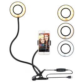 Βάση Μανταλάκι Με Φωτογραφικό Φωτιστικό Δαχτυλίδι 9cm Ring Lamp Light