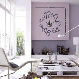 Ρολόι Τοίχου Αυτοκόλλητο DIY 10A022
