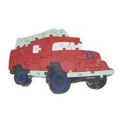 Ξύλινο Παζλ Κόκκινο Φορτηγό 26 Τεμαχίων