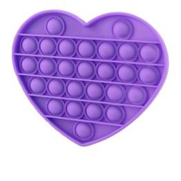 Anti Stress Fidget Bubble Pop Αγχολυτικό Παιχνίδι Καρδιά Μωβ