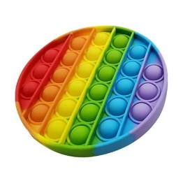 Anti Stress Fidget Bubble Pop Αγχολυτικό Παιχνίδι Κύκλος Rainbow