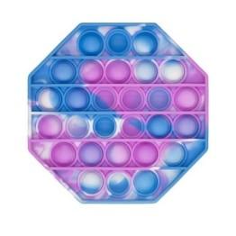 Anti Stress Fidget Bubble Pop Αγχολυτικό Παιχνίδι Οκτάγωνο Marble Γαλάζιο-Ροζ