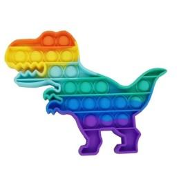 Anti Stress Fidget Bubble Pop Αγχολυτικό Παιχνίδι Δεινόσαυρος Rainbow