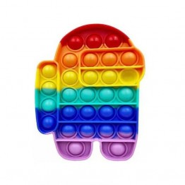 Anti Stress Fidget Bubble Pop Αγχολυτικό Παιχνίδι Ρομπότ Rainbow