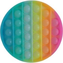 Anti Stress Fidget Bubble Pop Αγχολυτικό Παιχνίδι Κύκλος Rainbow Glow