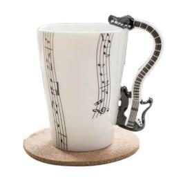 Κούπα με λαβή σε σχήμα Κιθάρας - Guitar Mug Μαύρο