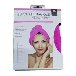 Πετσέτα Μαλλιών Τουρμπάνι από Μικροϊνες - Ροζ