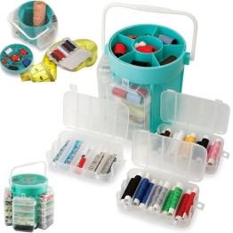 Πλήρες σετ Ραπτικής 210 τεμαχίων - Deluxe Sewing Kit & Storage Caddy