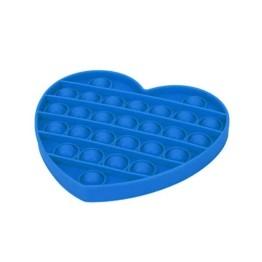 Anti Stress Fidget Bubble Pop Αγχολυτικό Παιχνίδι Καρδιά Μπλε
