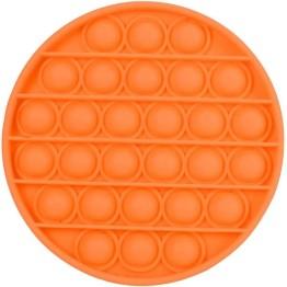 Anti Stress Fidget Bubble Pop Αγχολυτικό Παιχνίδι Κύκλος Πορτοκαλί
