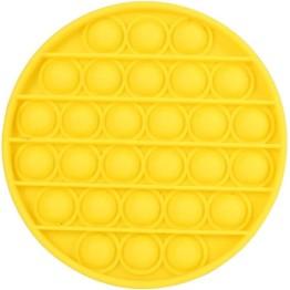 Anti Stress Fidget Bubble Pop Αγχολυτικό Παιχνίδι Κύκλος Κίτρινο
