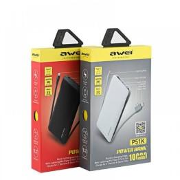 Φορητός Φορτιστής Power Bank Awei P51K 10000 mAh