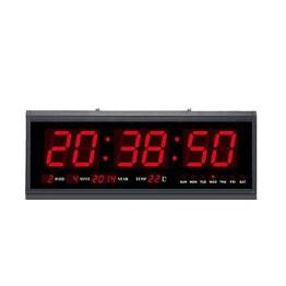 Μεγάλο Ψηφιακό Ρολόι Τοίχου - Πινακίδα LED με Θερμόμετρο και Ημερολόγιο Jumbo Clock TL4819