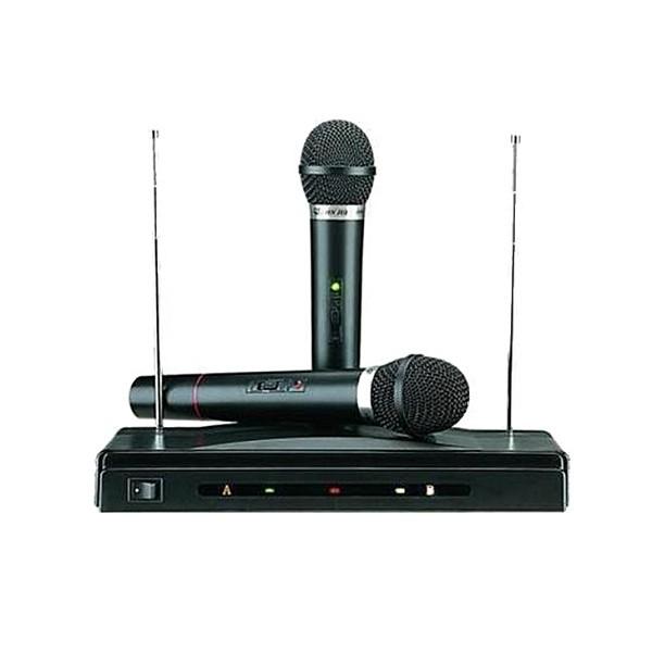 Συσκευή Karaoke με Δύο Ασύρματα Μικρόφωνα AT-306 OEM