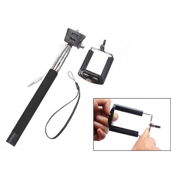 Selfie Stick Monopod - Πτυσσόμενο Μπαστούνι Κάμερας Με Καλώδιο