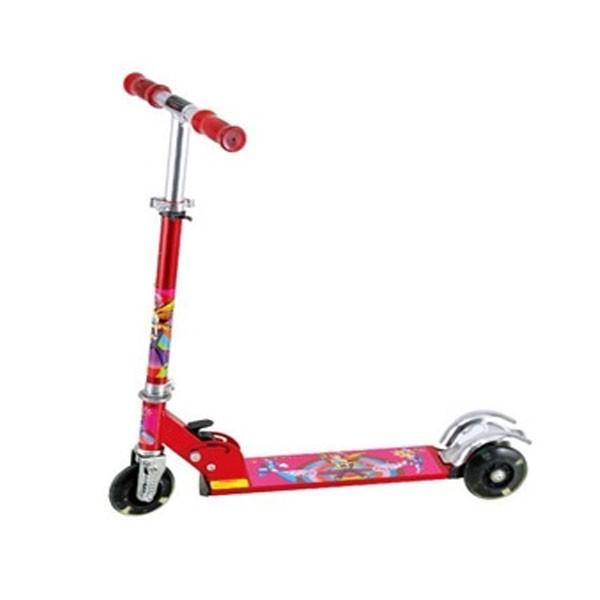 Αναδιπλούμενο Παιδικό Πατίνι με Ανάρτηση, Φρένα και Φωτιζόμενες LED ρόδες M-Rock Scooter 367