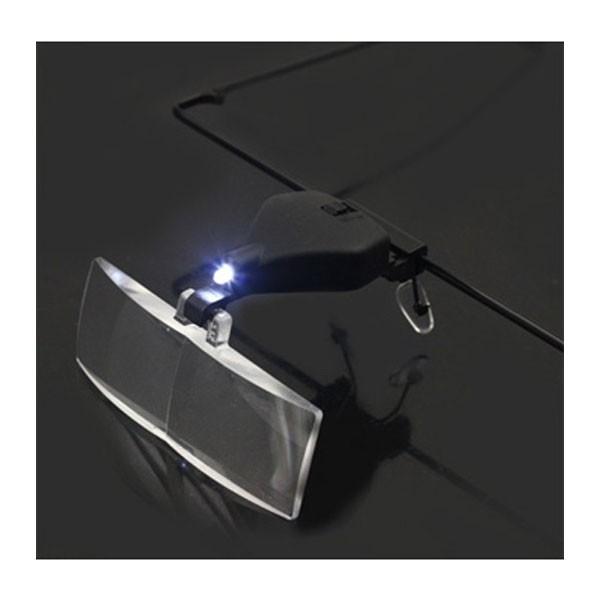 Μεγεθυντικός φακός κεφαλής με φωτισμό LED σε σκελετό γυαλιών
