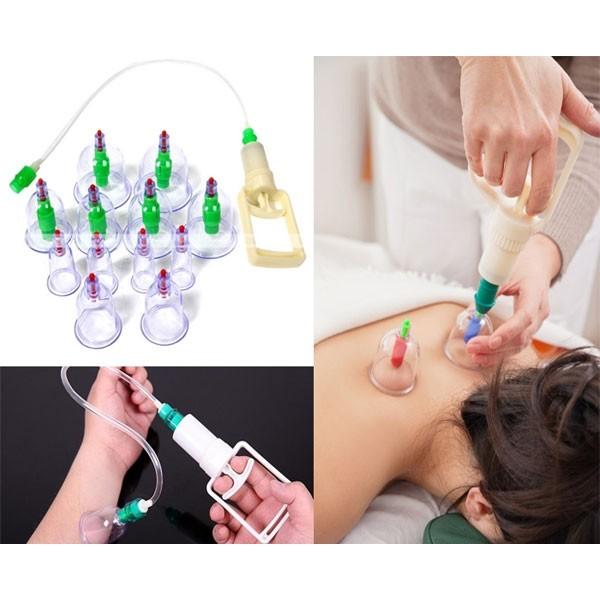 Παραδοσιακή Θεραπευτική Συσκευή με Βεντούζες 12 Ανταλλακτικών Κεφαλών