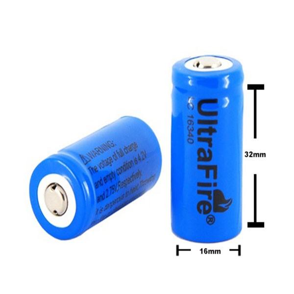 Επαναφορτιζόμενη μπαταρία 1300mAh 16340/CR123A 3.7v Battery