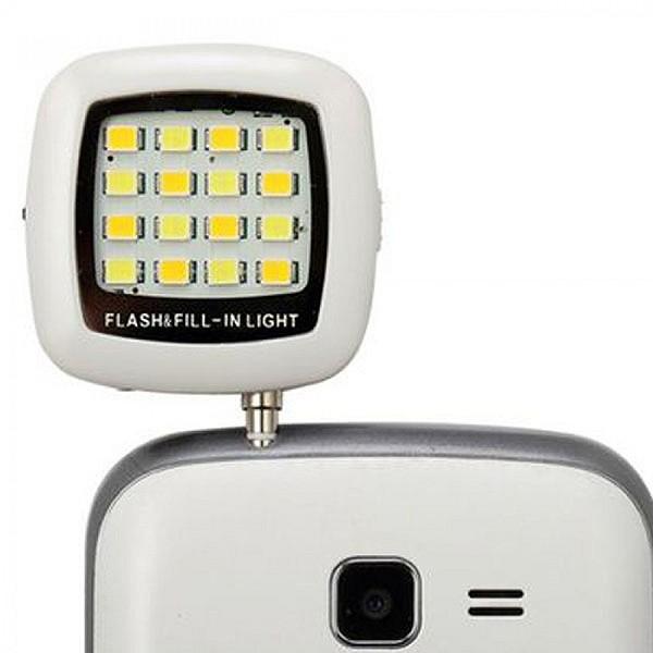 Φλας για Κινητά Τηλέφωνα & Smartphones - Selfie Flash High Power 16 LED