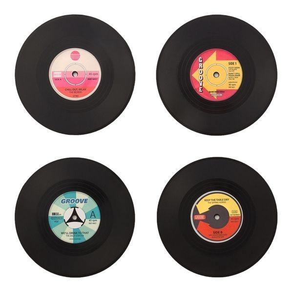 Σουβέρ - Δίσκος Βινυλίου Retro 4 τεμάχια