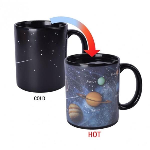 Μαγική κούπα που αλλάζει χρώμα - Solar System Mug