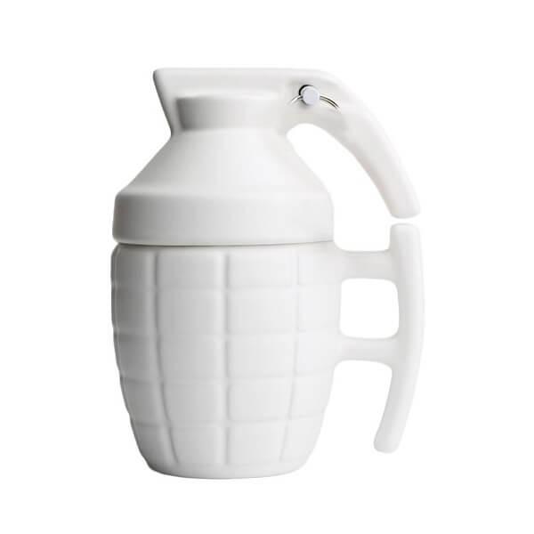 Κούπα Χειροβομβίδα Λευκή - Grenade Mug