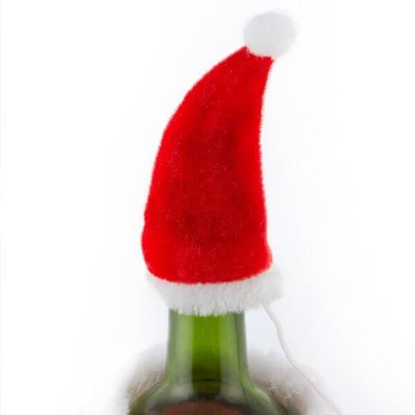 Καπέλο και Παλτό Άγιου Βασίλη για Μπουκάλια