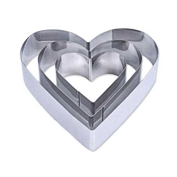 Ανοξείδωτα Τσέρκια - Κουπάτ Ζαχαροπλαστικής Καρδιά