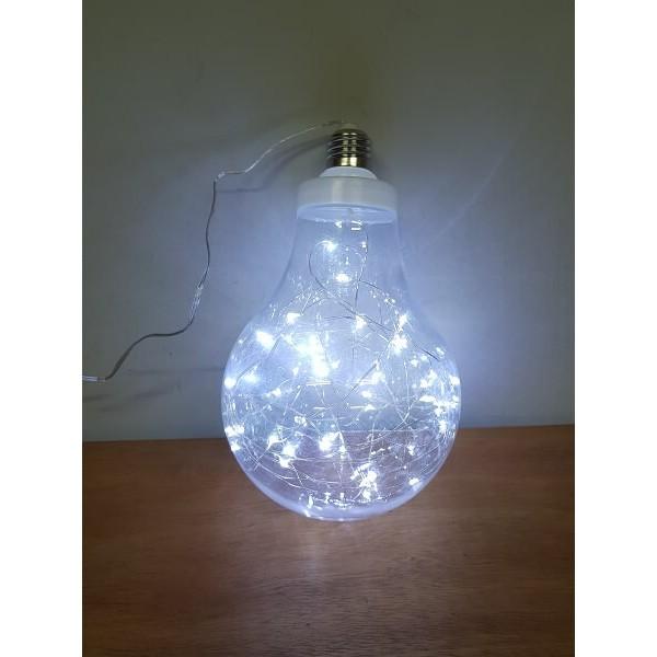 Χριστουγεννιατικη Ακρυλική Μπάλα Large με Led σε σχήμα Λαμπτήρα