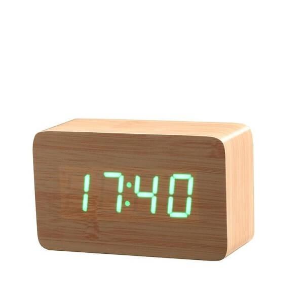 Ξύλινο Επιτραπέζιο Ρολόι Ημερολόγιο 5b8262bf728