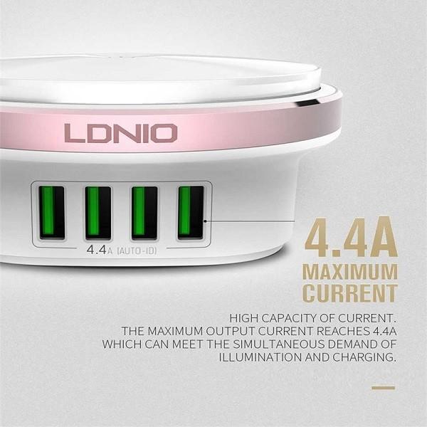 Ldnio Επιτραπέζιο Φωτάκι Νυκτός και Ταχυφορτιστής 4 x USB
