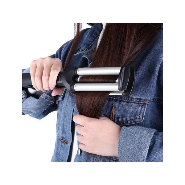 Τριπλό Ηλεκτρικό Ψαλίδι Μαλλιών για Κυματιστά Μαλλιά - Kemei KM2022