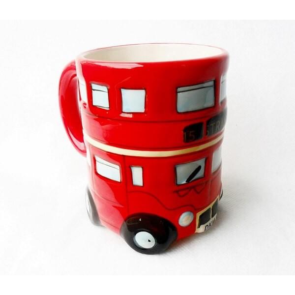 Κούπα σε σχήμα Διπλού Λονδρέζικου Λεωφορείου - Double Decker Bus Mug