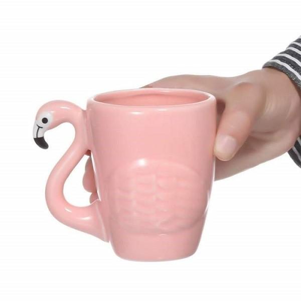 Κούπα Ροζ 3D Φλαμίνγκο - 3D Pink Flamingo Mug