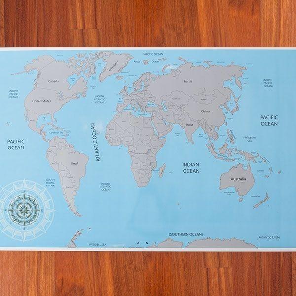 Ξυστός Παγκόσμιος Χάρτης - Εκεί που έχω ταξιδέψει εγώ!