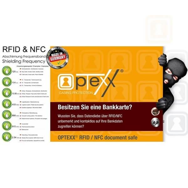 Θήκη Πιστωτικής Κάρτας Για Προστασία των Ανέπαφων Συναλλαγών RFID/NFC - Letters