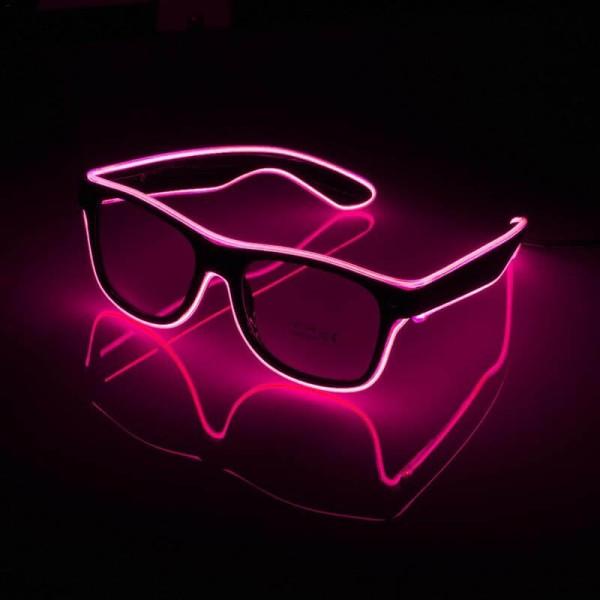 Γυαλιά με led φωτισμό για Πάρτυ Ροζ