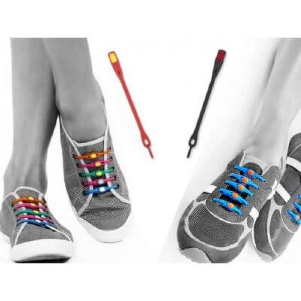 Κορδόνια Σιλικόνης για Παπούτσια - Σετ 12 Τεμαχίων