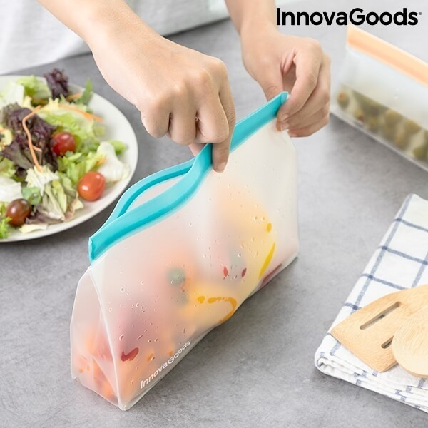 Επαναχρησιμοποιούμενες Σακούλες με Ερμητικό Κλείσιμο για Τρόφιμα Σετ 6τμχ - Zags