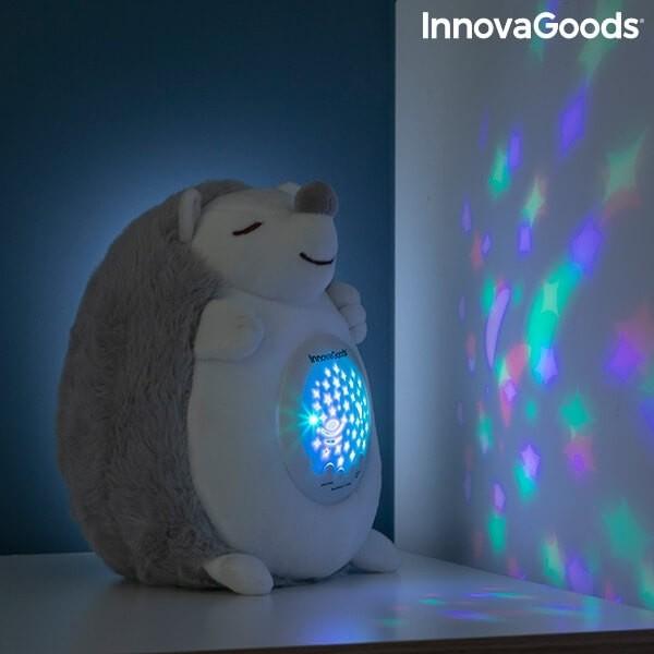 Βελούδινος Σκαντζόχοιρος με Λευκό Θόρυβο και Προβολέα Νυχτερινού Φωτός Spikey InnovaGoods