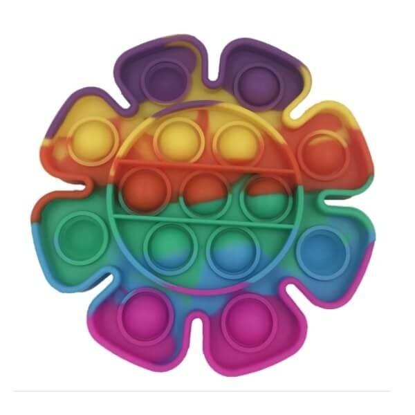 Anti Stress Fidget Bubble Pop Αγχολυτικό Παιχνίδι COVID19 Rainbow