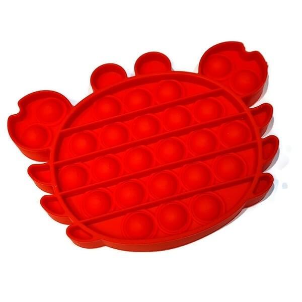 Anti Stress Fidget Bubble Pop Αγχολυτικό Παιχνίδι Κάβουρας Κόκκινο