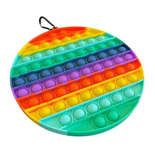 Jumbo Fidget Bubble Pop Αγχολυτικό Παιχνίδι Κύκλος Rainbow