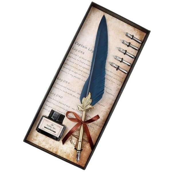 Πένα Κονδυλοφόρος Μπλε Φτερό με 5 Ανταλλακτικές Μύτες