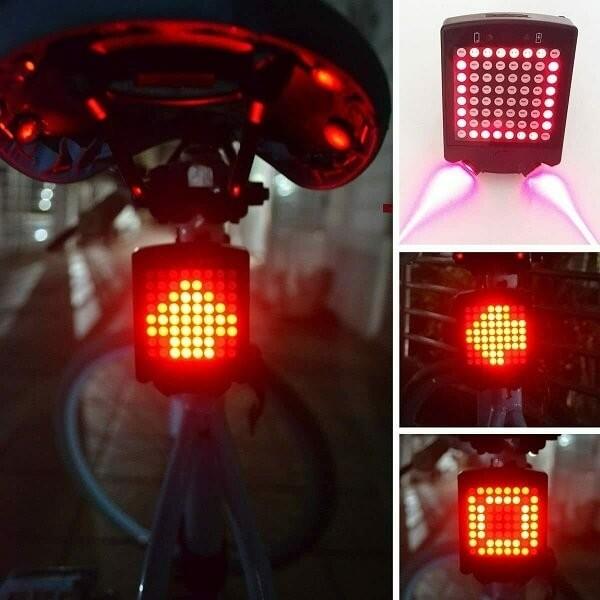 Επαναφορτιζόμενο Ασύρματο Φως Ποδηλάτου με Φλας, Led & Laser – Bike Signal Tail Light